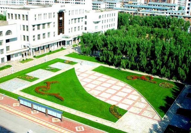 绥化学院手绘地图