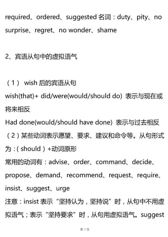高考英语语法11大专题知识点汇总