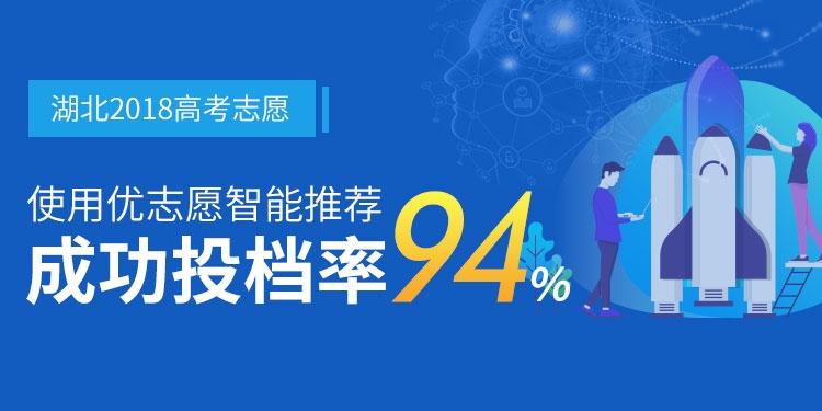 2018使用优志愿模拟填报 湖北本一成功投档率94%