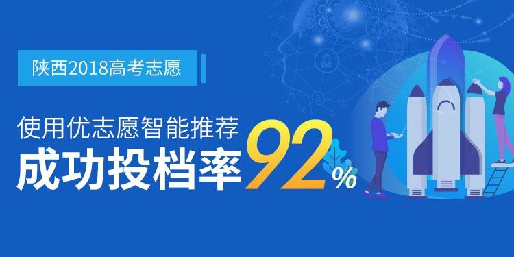 2018使用优志愿模拟填报 陕西本一成功投档率92%