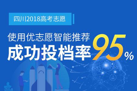 2018使用优志愿模拟填报 四川本一成功投档率95%
