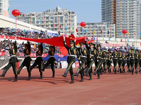 2011秋季运动会电信系方阵队队形变换图片